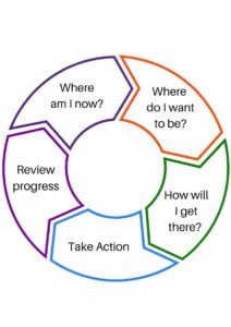 Career plan, review, action